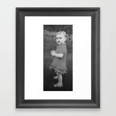 Little Eve (grey) Framed Art Print