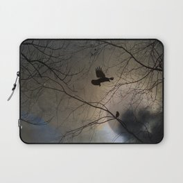 Crows Lit By A Full Moon Laptop Sleeve