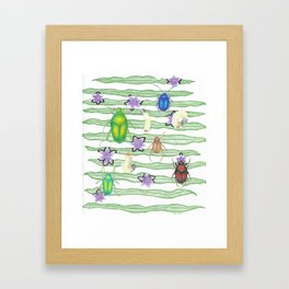 Beetles and Babies Framed Art Print