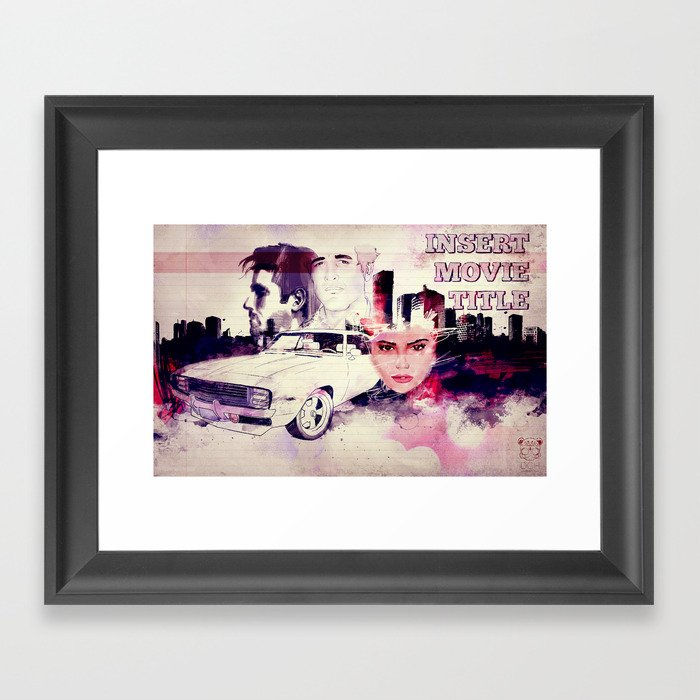(INSERT MOVIE TITLE) Framed Art Print