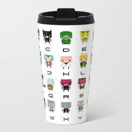 Pixel Supervillain Alphabet 2 Metal Travel Mug