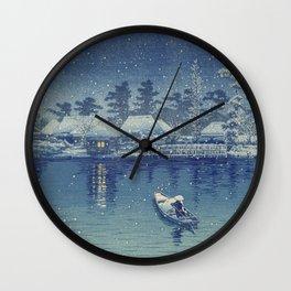 Japanese Woodcut: Ushibori (Mistake?) Wall Clock