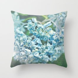 Thirsty Hydrangea Throw Pillow