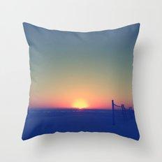 Distant Sunset Throw Pillow