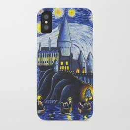 Starry Night At Hogwarts iPhone Case