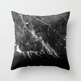 Black Gray Marble #1 #decor #art #society6 Throw Pillow