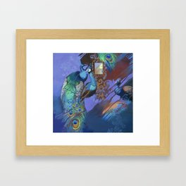 Peacock Suites II Framed Art Print