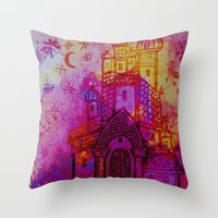 russia Throw Pillows featuring Russia  by Kaxton