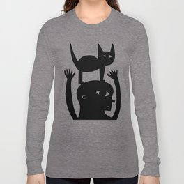 Cat On My Head Long Sleeve T-shirt