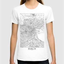 Dublin White Map T-shirt