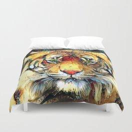 Fantazi (Tiger is Not Amused II) Duvet Cover