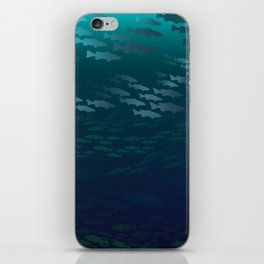 Fish Under The Storm iPhone Skin