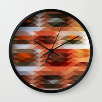 triangle Wall Clocks featuring Triangle by Fine2art