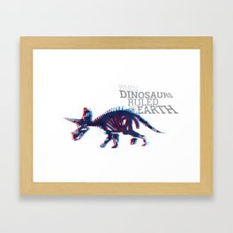 When Dinosaurs Ruled The Earth - Triceratops Framed Art Print