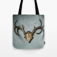 antlers Tote Bags featuring Antlers by Joyce Vincent