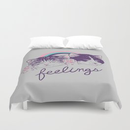 Feelings Duvet Cover