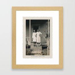 Les soeurs Bisson, Thérèse et Alice - The sisters Bisson, Therese et Alice Framed Art Print