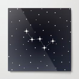 Cassiopeia Constellation Metal Print