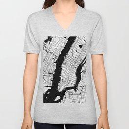 New York City Minimal Map Unisex V-Neck