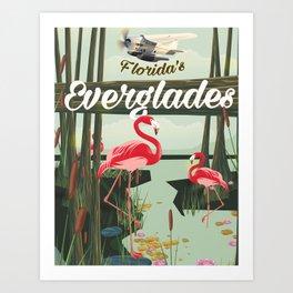 Everglades travel poster Art Print
