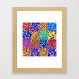 patchwork fantasy Framed Art Print