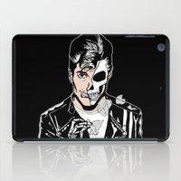 alex turner iPad Cases featuring Alex Turner Skull Art by zombieCraig by zombieCraig