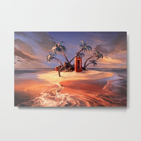 In the event of sinking Metal Print