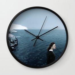 Girl ocean ice mountain Wall Clock