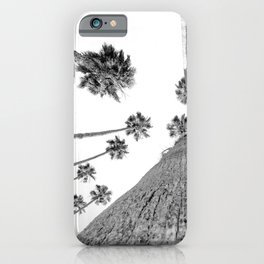 {2 of 2} Hug a Palm Tree // Tropical Summer Black and White Sky Art Print iPhone Case