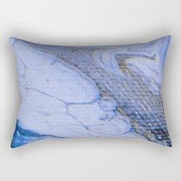 Acrylic Pour Blue Swirl Rectangular Pillow