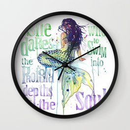 Mermaid : Profound Depths Wall Clock