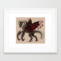 demon Framed Art Prints featuring Demon by Alexiel