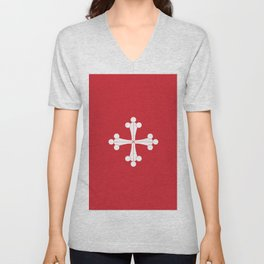 Flag of Pisa Unisex V-Neck