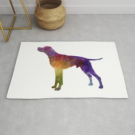 English Pointer in watercolor Rug