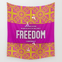 freedom Wall Tapestries featuring Freedom by Peter Gross
