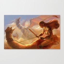 Dragon Hunting Canvas Print