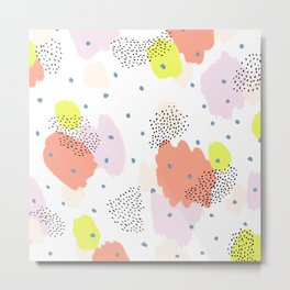Blotchy Pattern Metal Print