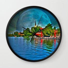 Lake Schliersee bavaria Germany Wall Clock