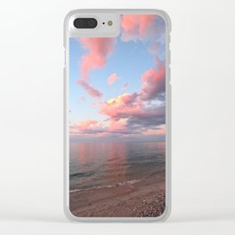 Pink Skies at Night, Vertical Layout Clear iPhone Case