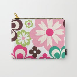 Big And Small Abstract Colorful Flowers Pattern Carry-All Pouch