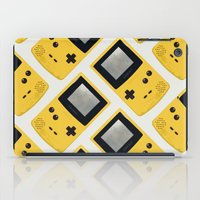 gameboy iPad Cases featuring Gameboy Color: Yellow (Pattern) by Zeke Tucker