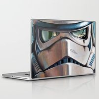 stormtrooper Laptop & iPad Skins featuring Stormtrooper by Mel Hampson