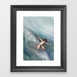 Water Baby Framed Art Print