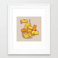cats Framed Art Prints featuring cats ! by parisian samurai studio