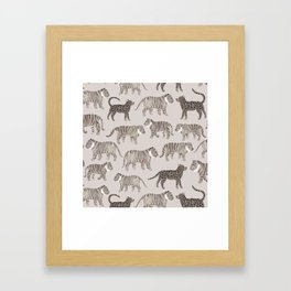 Gray Tigers Framed Art Print