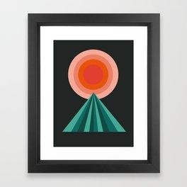 Way Decent - 70s retro throwback minimal sun california socal 1970's style Framed Art Print