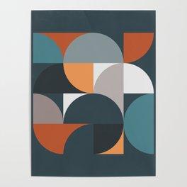 Mid Century Geometric 11/2 Poster