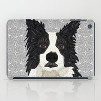 border collie iPad Cases featuring Beautiful Border Collie by ArtLovePassion