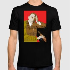 Sergei Rachmaninov Black Mens Fitted Tee LARGE