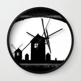 Windmill At Dusk Wall Clock